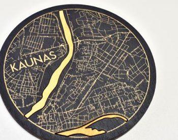 """Wooden coaster """"Kaunas"""