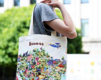 """Bag """"Kaunas map"""